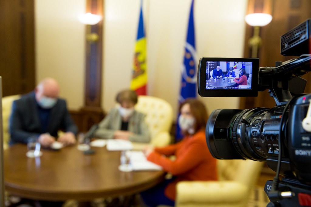 19.02.2021 Întrevederea Președintelui Parlamentului Zinaida Greceanîi cu raportorii Comisiei de la Veneția