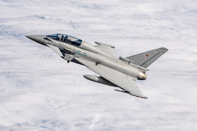 12 Squadron RAF Typhoon T3 ZK383 in the English Lake District