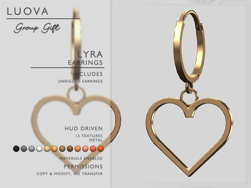 Luova // Lyra // Heart Earrings // Group Gift // FATPACK