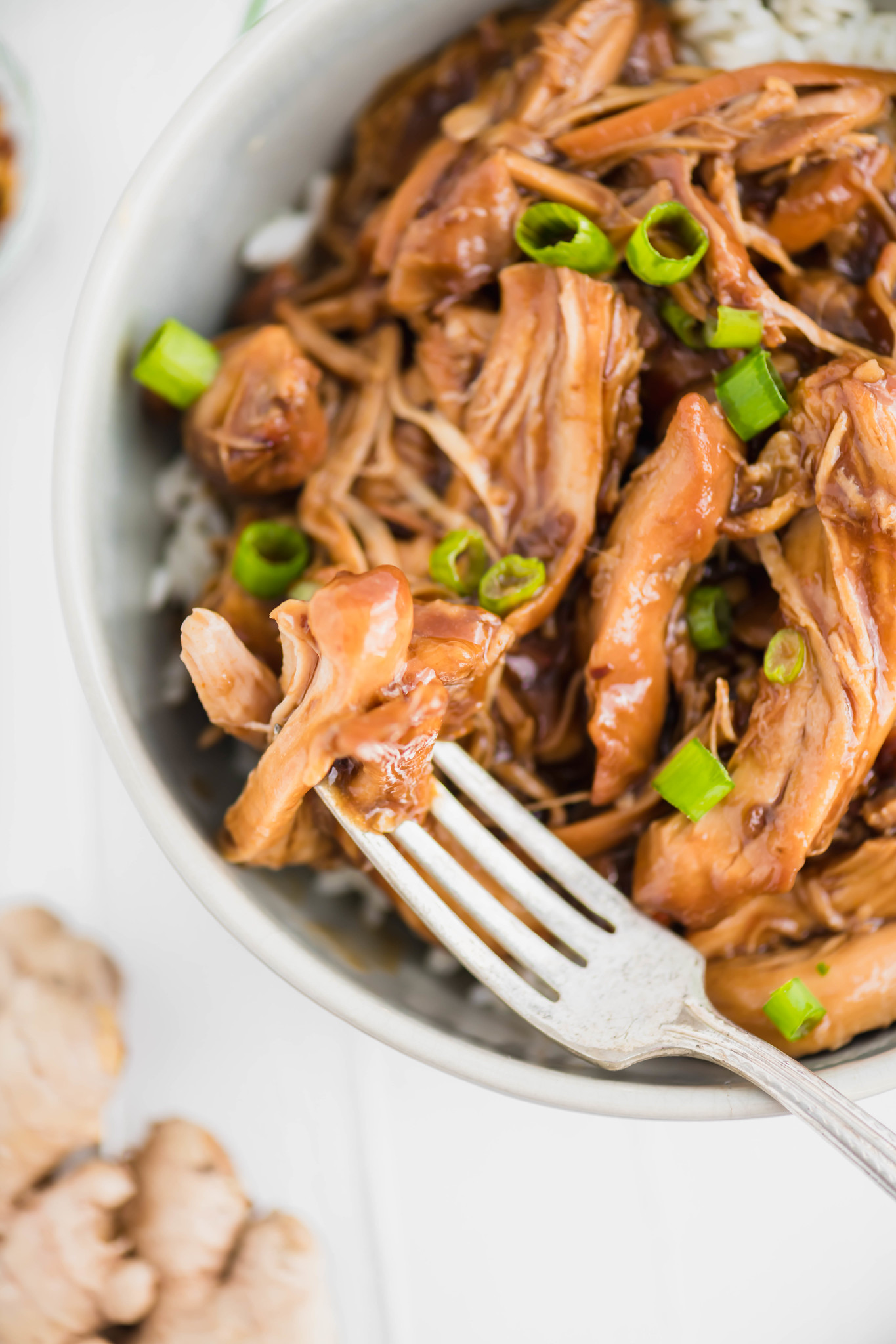 Slow Cooker Bourbon Chicken is just what your busy weeknights need. Packed full of sweet, sticky, rich flavor.