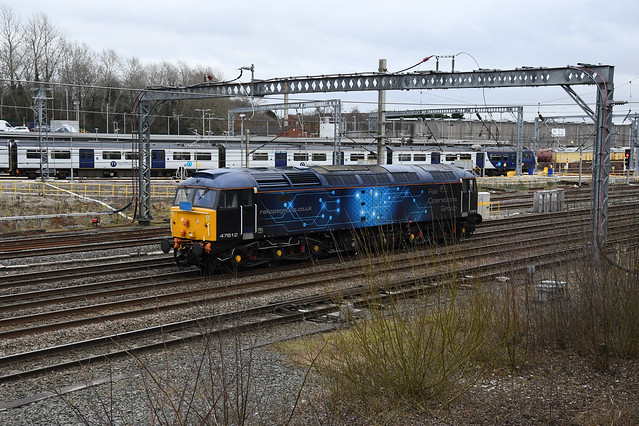 Rail Operations Group Black and 'Connectivity' Branded Class 47/8, 47812
