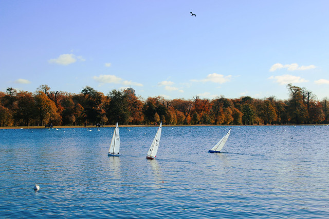 Sailing in Hyde Park.