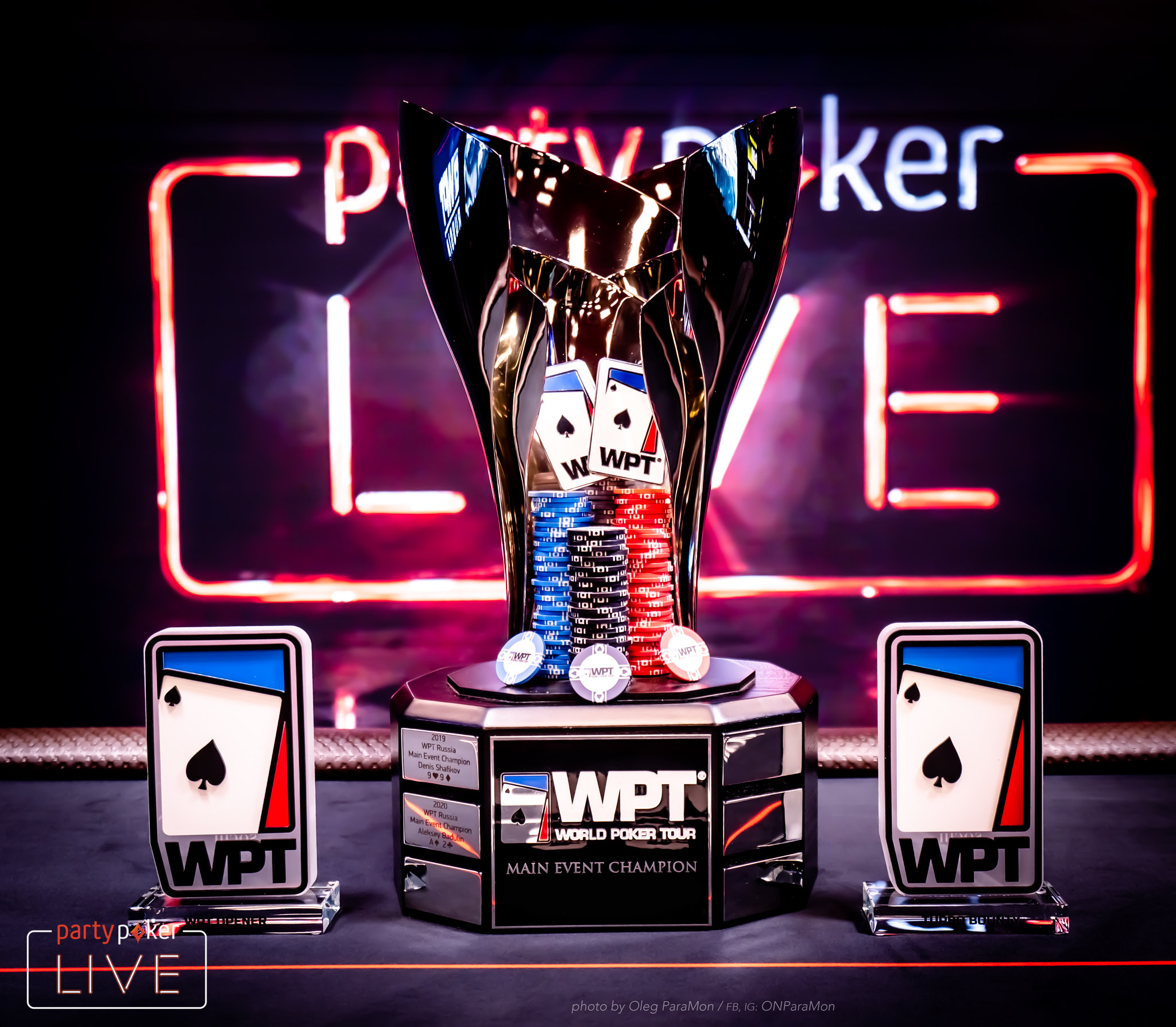 """The WPT Main and Side Event Trophies"""" width="""