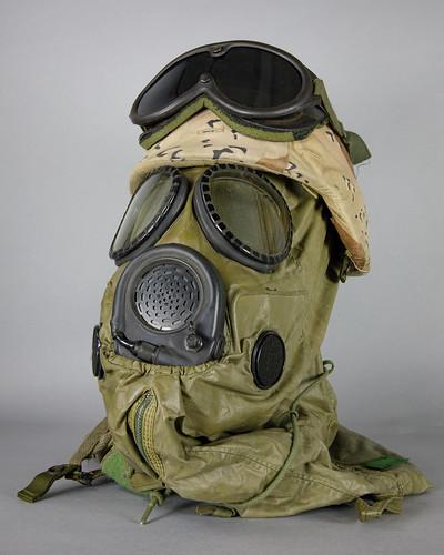 Kevlar Helment and Gas Mask