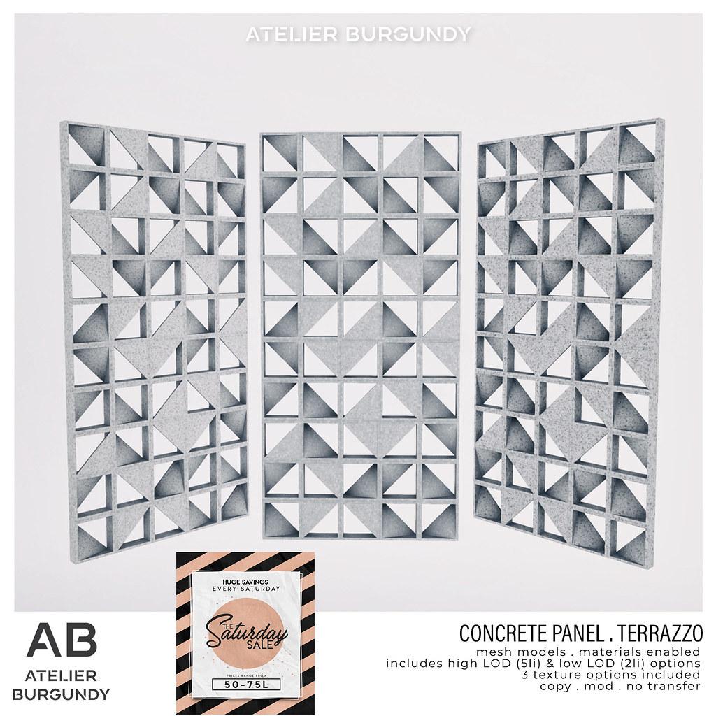 Atelier Burgundy . Concrete Panel Terrazzo