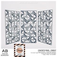 Atelier Burgundy . Concrete Panel Cement