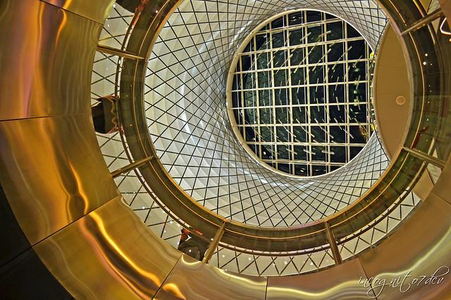 Spaceship - Inside Fulton Center & Station on Fulton Street near WTC Manhattan New York City NY P00808 DSC_1321
