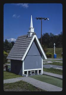 Church, Baker's mini golf, Route 7, Lanesborough, Massachusetts (LOC)