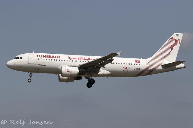 TS-IMR Airbus A320 Tunisair Barcelona Airport LEBL 11.08-19
