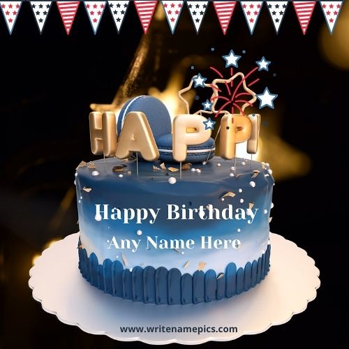 Happy Birthday Wishes 3D Cake With Name Pic