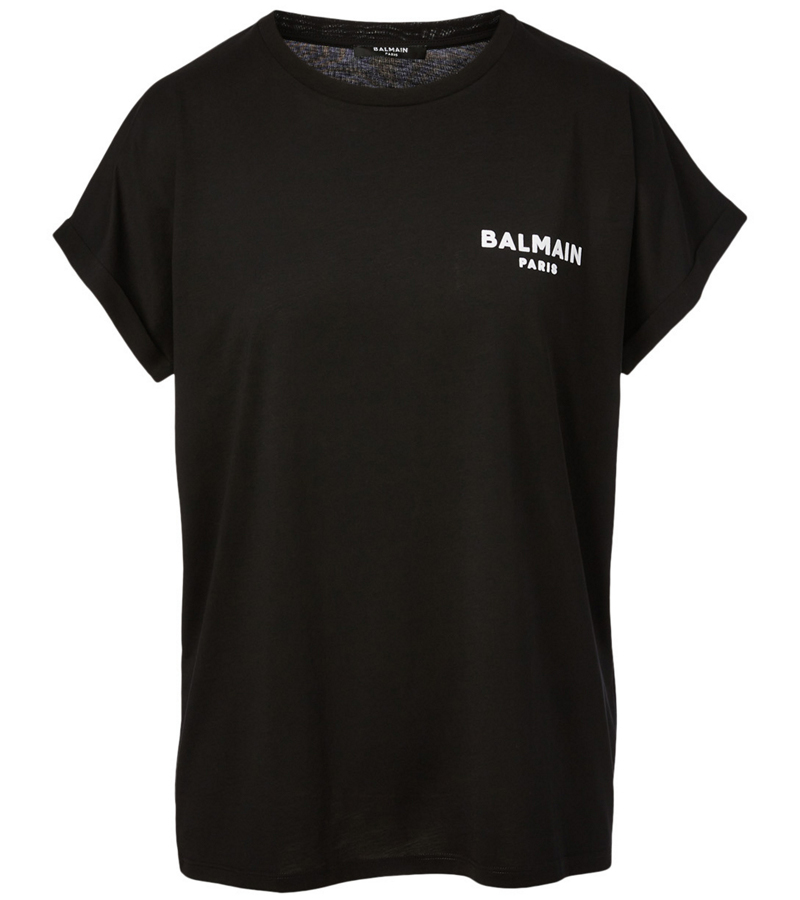 7_balmain-Cotton-Flocked-Logo-T-Shirt