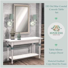 DD Del Mar Coastal Console Table AD