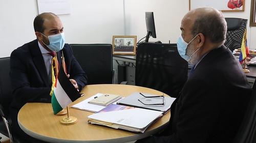 Reunión con el embajador del Estado de Palestina, Fadi Alzaben