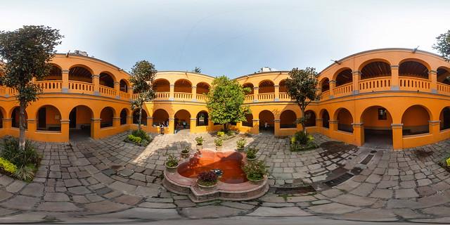 El patio de la Parroquia de San Agustín de las Cuevas