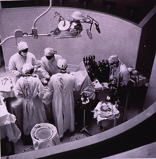 Heart surgery is performed in the Clinical Center's Surgery Wing | by National Library of Medicine - History of Medicine