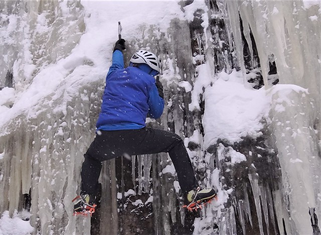 Escalade de glace.