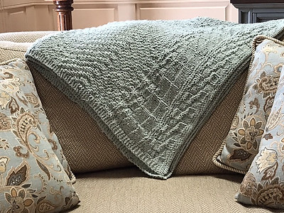 """Connie (knitnut246) finished this big """"Mother of Purl"""" afghan!"""