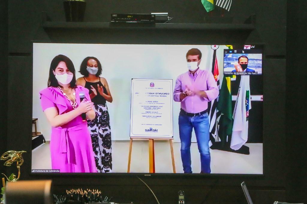 Entrega Virtual de 84 Unidades Habitacionais para Timburi.