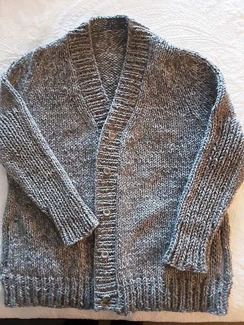 Kathy (chantrykathy) finished her Emma Version C by Julie Weisenberger  from the Cocoknits Sweater Workshop.