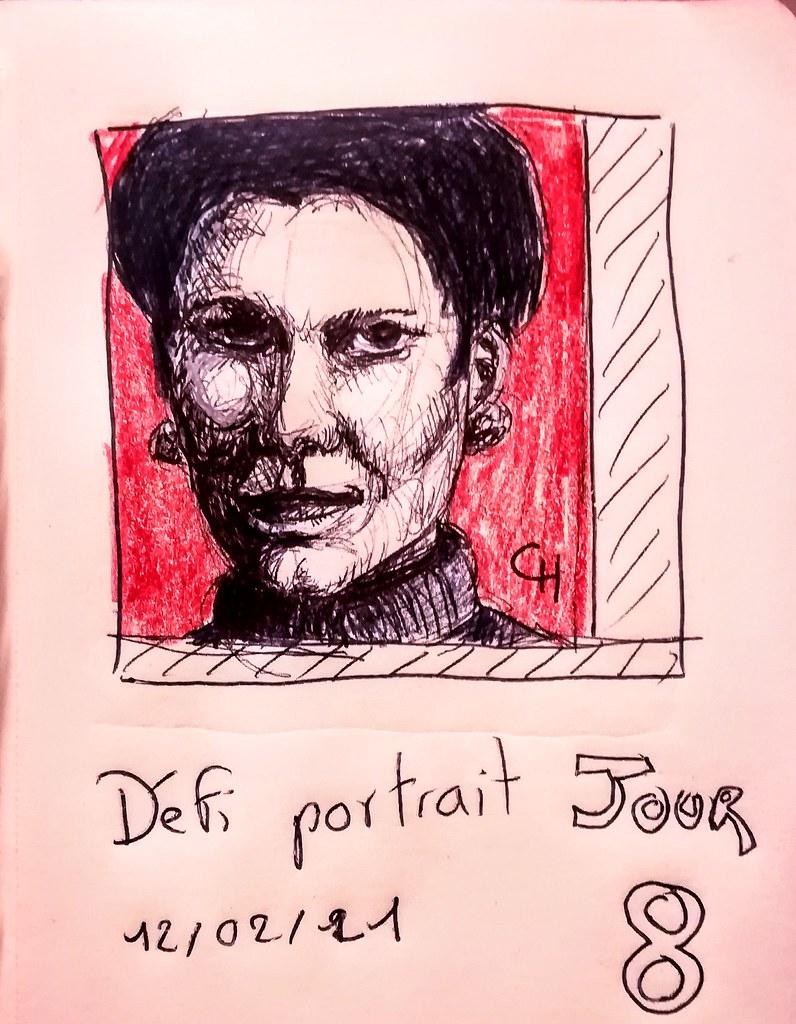 Défi portrait #atelierdessinrenata JOUR 8