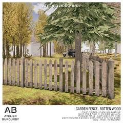 Atelier Burgundy . Garden Fence Rotten Wood