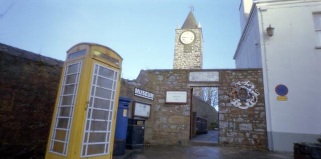pinhole old clock tower Alderney