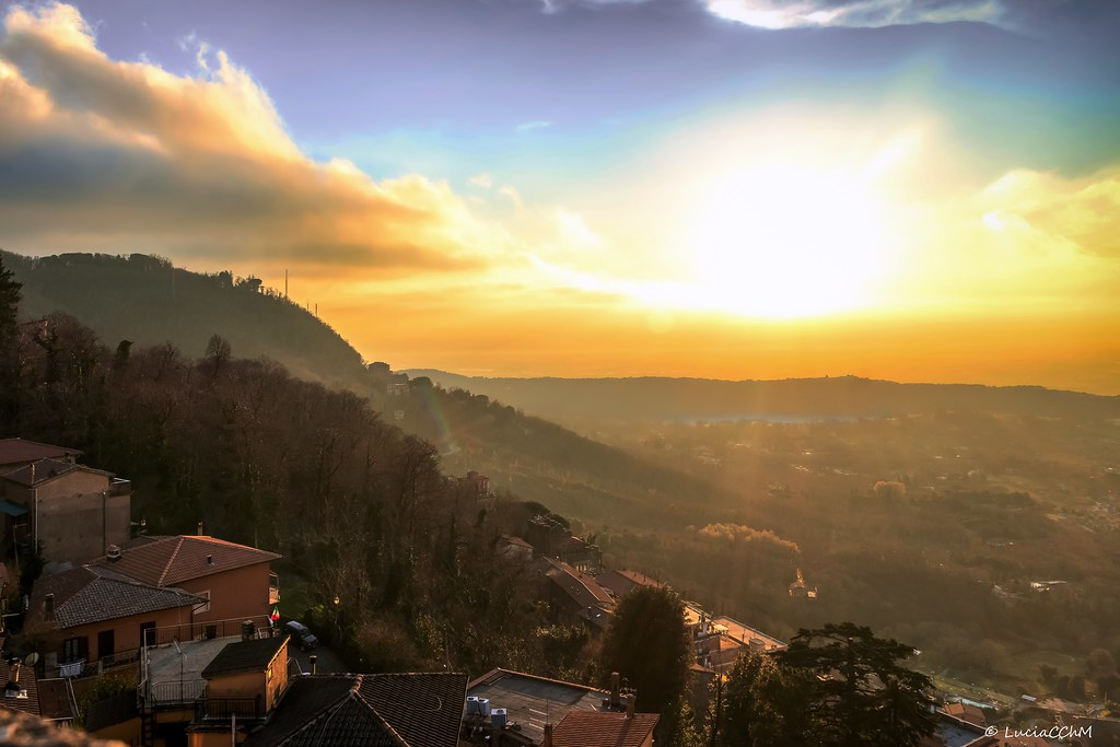 Sunset, Rocca di Papa, lazio, Italia