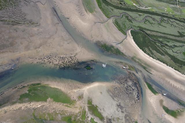 Brancaster Staithe aerial image - North Norfolk coast