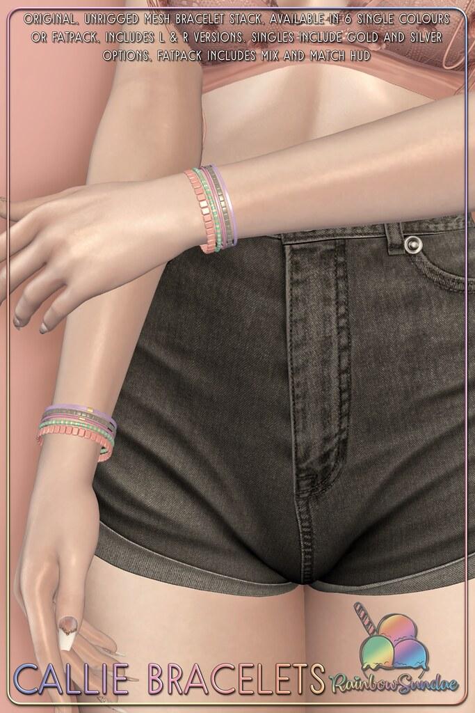 *Rainbow Sundae* Callie Bracelets