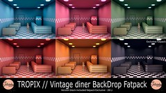 TROPIX - Vintage diner BackDrop Fatpack
