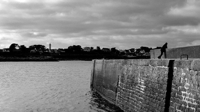 Alone on the quay