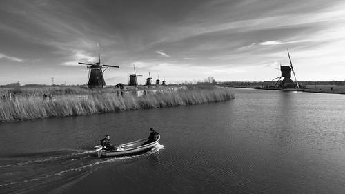 architecture dutch landscape blackandwhite water