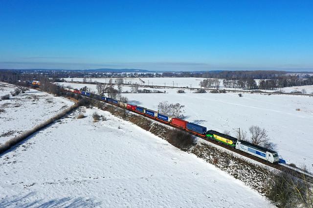LTE 286 940 + 193 740 + goederentrein/Güterzug/freight train Rotterdam - Poznan  - Golm
