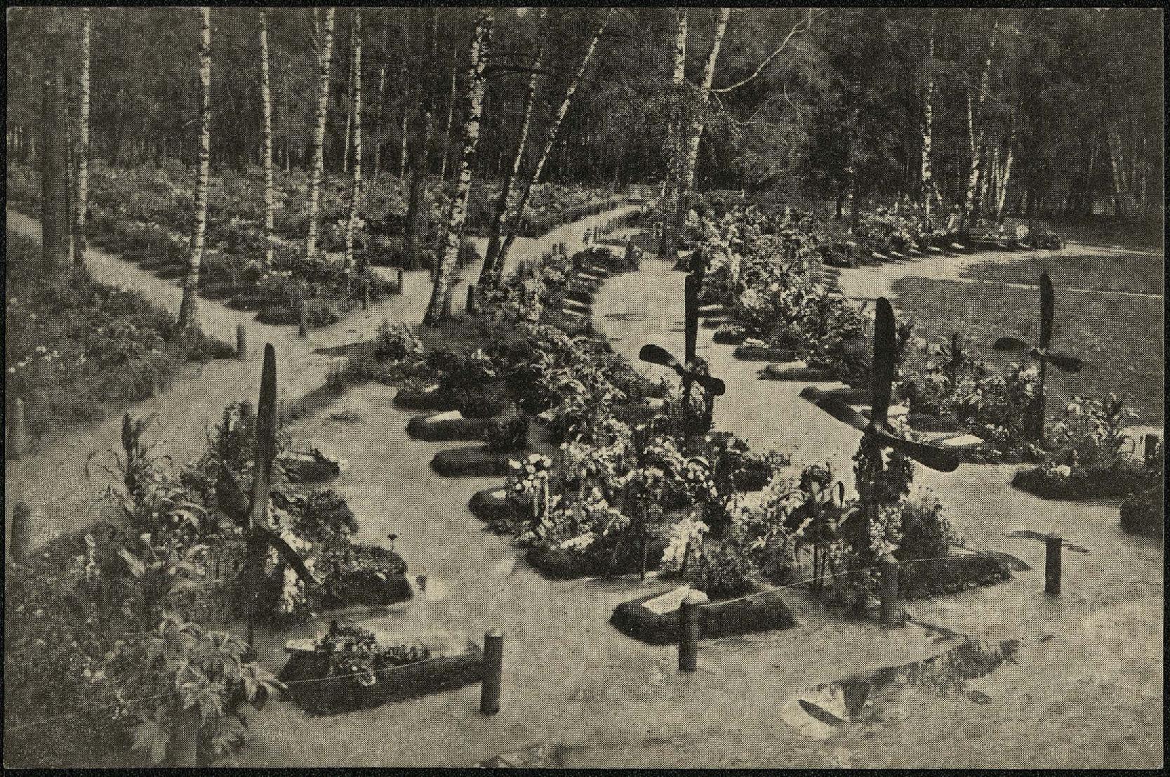 Московское городское братское кладбище. Аллея летчиков. 1915