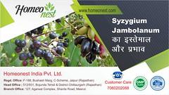 Syzygium Jambolanum का इस्तेमाल और प्रभाव