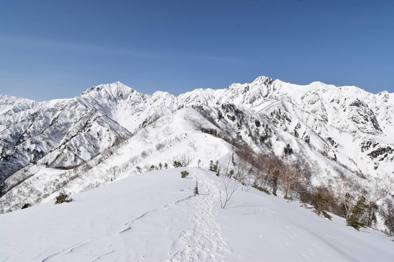 【北アルプス】冬の遠見尾根 日帰り雪山登山