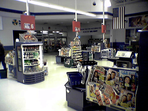 schuminweb ben schumin web december 2004 roanoke virginia va walmart supercenter wal mart super center store stores grocery general merchandise retail retailing retailer retailers discount discounter discounters shop shops shopping red white department point sale front end frontend checkout check out outs checkouts cash register registers wrap wraps magazine magazines blue gray number numbers sign signs signage signing