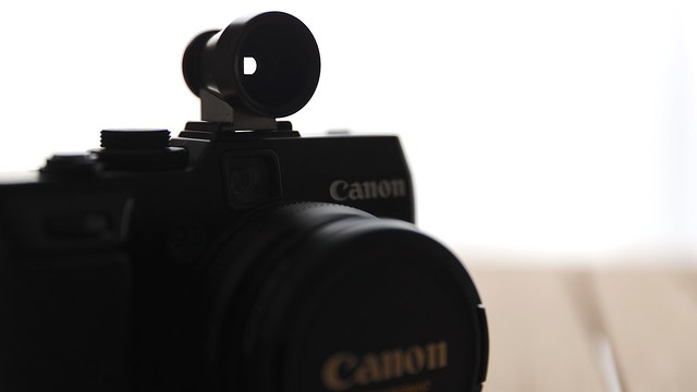 PowerShot G1X + NH-VF28 (External Finder 28mm).