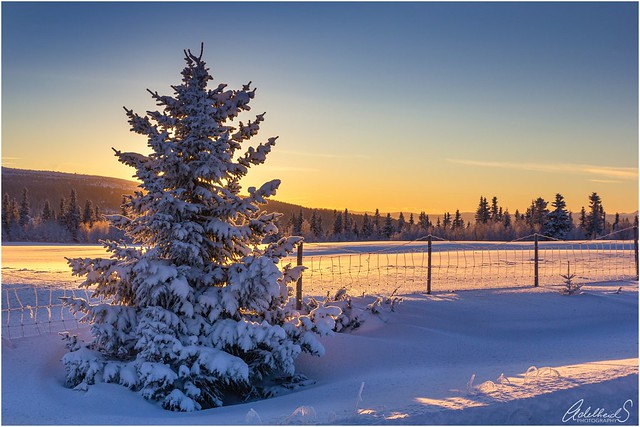 Winter sunset, Norway