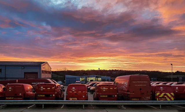 Red Sky in a Morning, Posties Take Warning!
