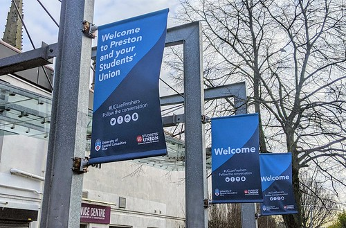 UCLan Students Union signs in Preston | by Tony Worrall