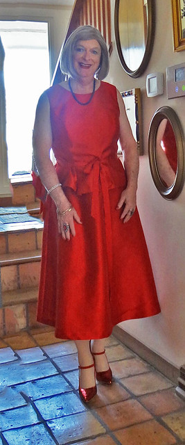 Another red satin dress!