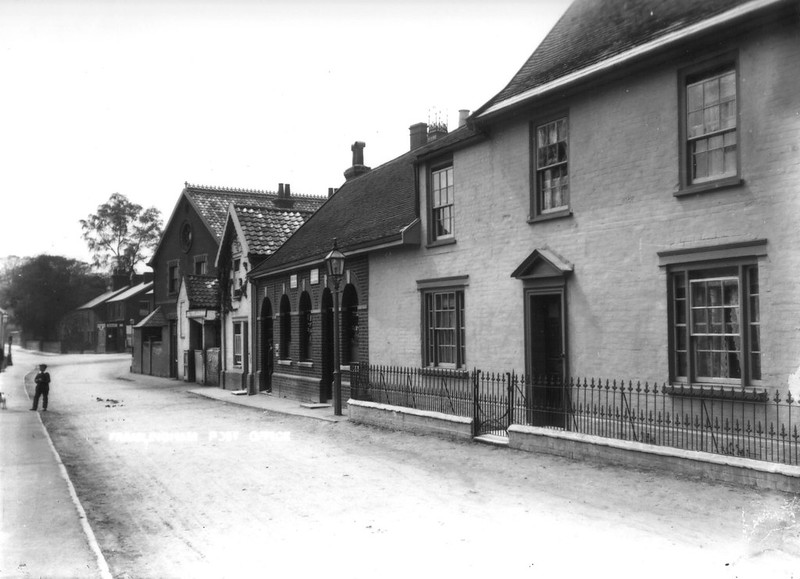 Then And Now: Framlingham Post Office, early 1900s?