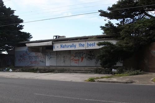 Abandoned SBA Foods shop on Kyle Road