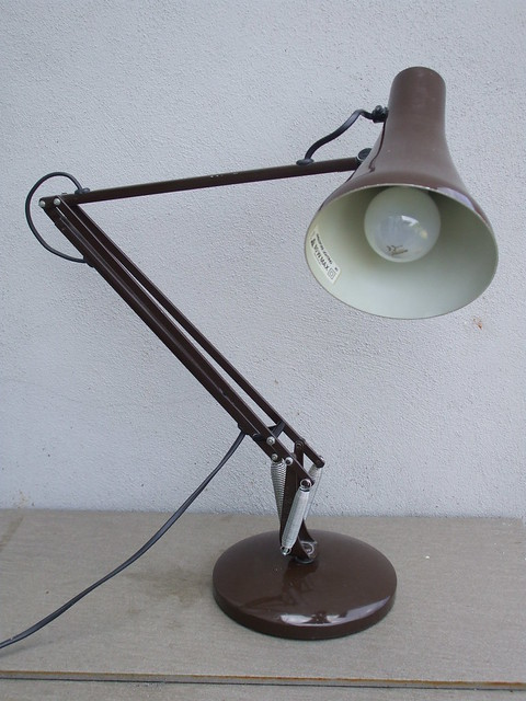 Vintage 1970's Chocolate Brown Anglepoise Desk Lamp