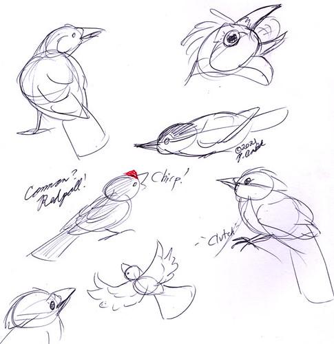 2.19.21 - Cornell Birdfeeder Sketches