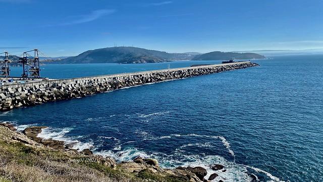 Entrada a la Ría de Ferrol.