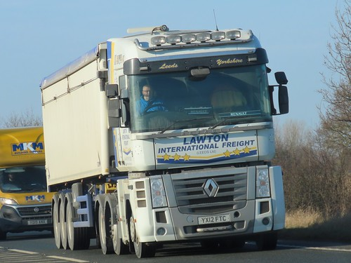 Lawton International Freight, Renault Magnum (YX12FTC) On The A63 Selby Bypass North Yorkshire