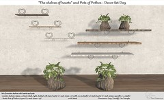 ".:Tm:.Creation ""The shelves of hearts"" and Pots of Pothos - Decor Set D03"