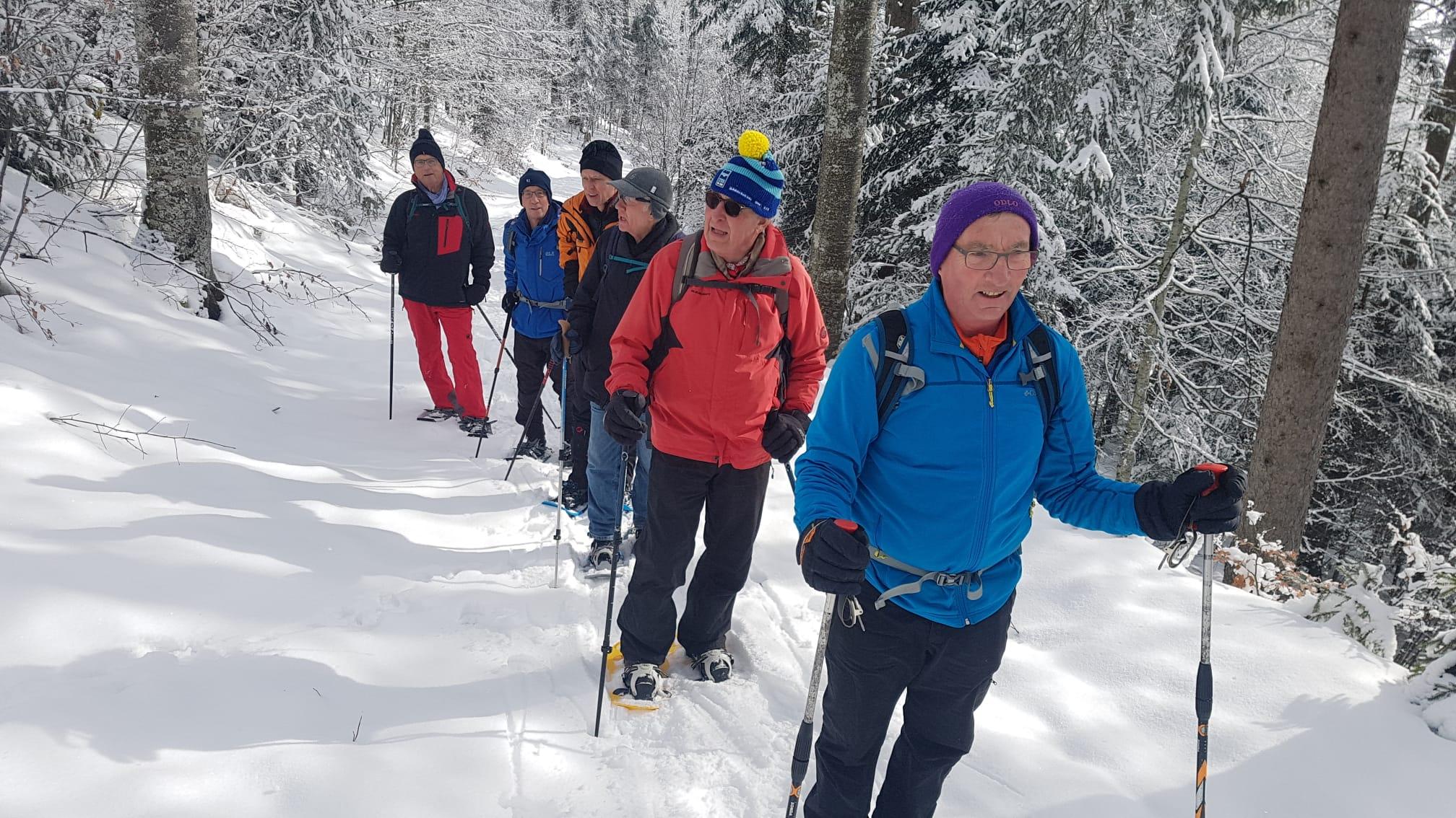 2021-02-12 Schneeswanderung Wäsmeli - Oberbürenberg